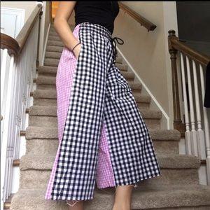 Pants - (Saved for Tiffany) LSB Gingham Flare Pants-XS